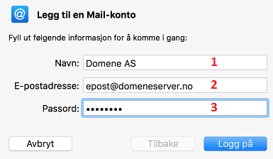 image mail mac leggtil konto