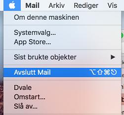 image mail mac log out