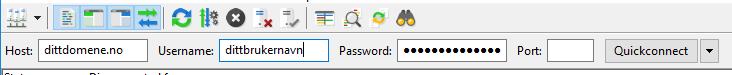 laste opp filer webhotell