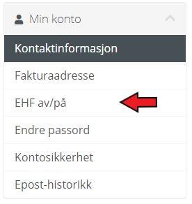 EHF av/på