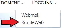 Kundeweb innlogging