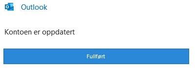 Outlook fullført konto