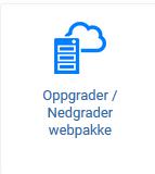 Oppgradere webhotell knapp