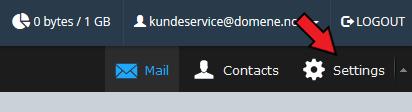 Webmail innstillinger
