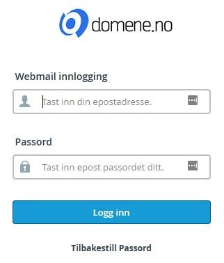 Webmail innlogging