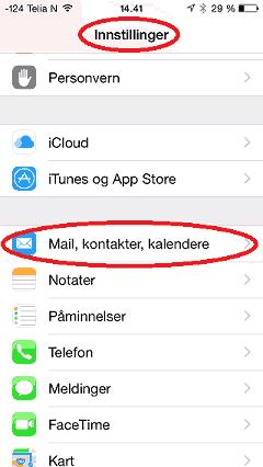 iphone setup image setting